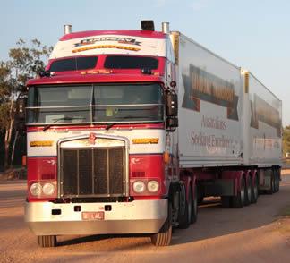 red-semi-truck