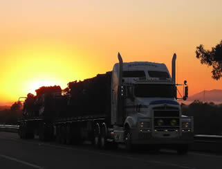 trucking-sunset
