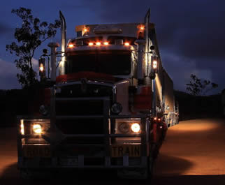 trucking-at-night