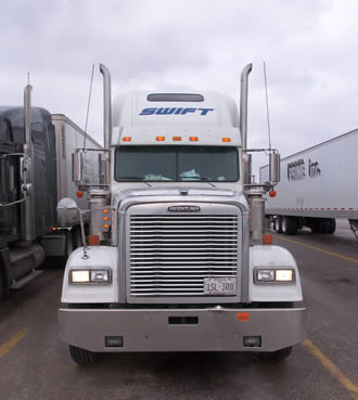 white-big-rig-truck