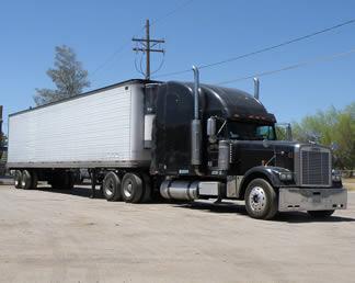 black-semi-truck