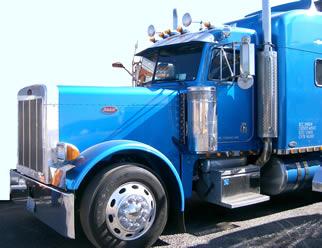 blue-semi-truck